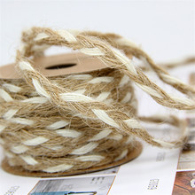 5 Meters Eco Natural White Jute Braided Rope Gift Box String DIY Craft Cord BJ03(China)