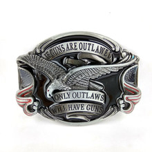 """if guns are outlawed only outlawed will have guns"" American Eagle Belt Buckle wholesale custom buckle For belt accessories"