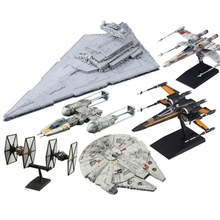 Original Bandai 6 Styling Star Wars 7 Vehicle Model Series Millennium Falcon PVC Figure Doll Model Toys
