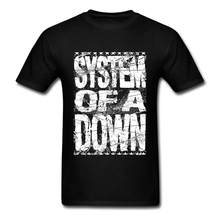 System Of A Down Logo T Shirt Men Boy Vintage Custom Short Sleeve Valentine's XXXL Party  Camiseta