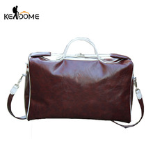 Men PU Leather Waterproof Shoulder Bag Women Gym Sport Handbags Tourist Crossbody Bags High Quality Large Capacity Tote XA397WD