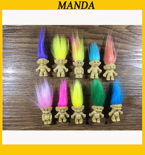 50pcs/lot Cute Mini Troll Toy Family Members Troll Kids Toys New Year's Birthday Gifts(China)