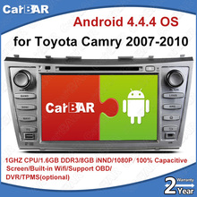 C100 Android 4.4.4 Car DVD GPS Radio Audio Navigation Player for Toyota Camry 2007-2011 SD USB IPOD WIFI Support 3G DVR OBD(China)