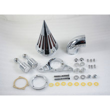 Motorcycle NEW Air Cleaner Filter Kit for Harley Softail Night Train Fat Boy EFI 2004 2005 2006 2007 01 02 03 04 05 06 07