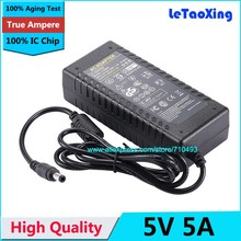 With IC Chip AC DC 5V 5A Power Adpater Supply 25W Charger Transformer 4A Adaptor For LED Strip Light CCTV Camera 1pcs