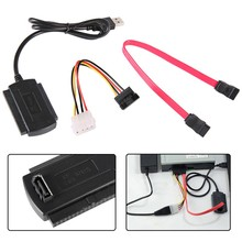 Newest SATA/PATA/IDE Drive to USB 2.0 Adapter Converter Cable for 2.5 3.5 Inch Hard Drive