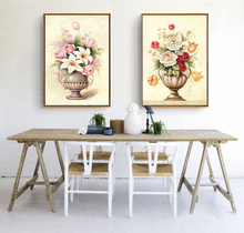 2 Piece European style Still life vase Tulip rose Canvas Home Decor Wall Painting Art Paintings for living room