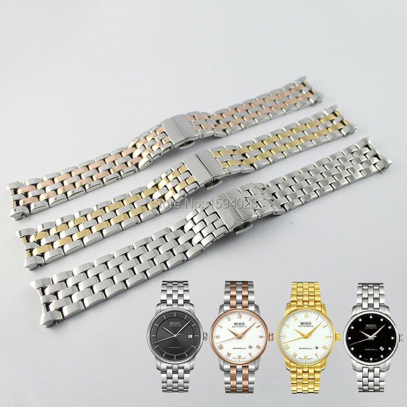 20mm M8600 Watch Band Watch Strap Solid 316L Stainless Steel Watchbands For MIDO BARONCELLI GENT M8600  + FREE TOOLS<br>