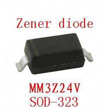 0805 smd zener diode sod-323 MM3Z24V 100pcs(China)