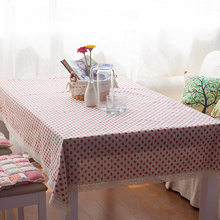 Table Linens Covers Strawberry Lovely Pattern Toalha De Mesa Mantel Pink Wedding Table Linens Decorations Oversized Tablecloths(China)