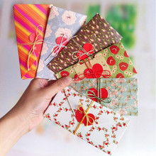 GC010 6pcs/pack 78x118mm DIY fold heart Korean Scene Postcard Greeting Cards Word Message Wishes Cards Kids Gift DIY Craft Cards(China)