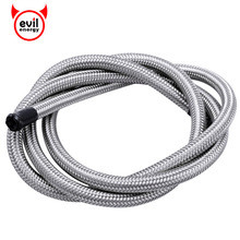 evil energy 1M/ 3.3FT Stainless Steel PTFE Teflon Braided Fuel Oil Gasoline Brake Line Hose Oil Cooler System Silver(China)