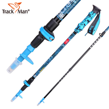 Trackman 1pcs 3-section Anti Shock Walking Stick for Old Aluminum Hiking Walking Trekking Pole Telescopic Walking Canes- TM6713(China)