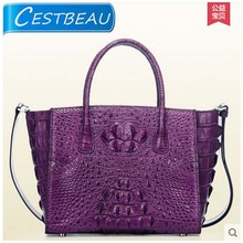 Luxury  new Real crocodile women handbag Single shoulder bag portable purple and black
