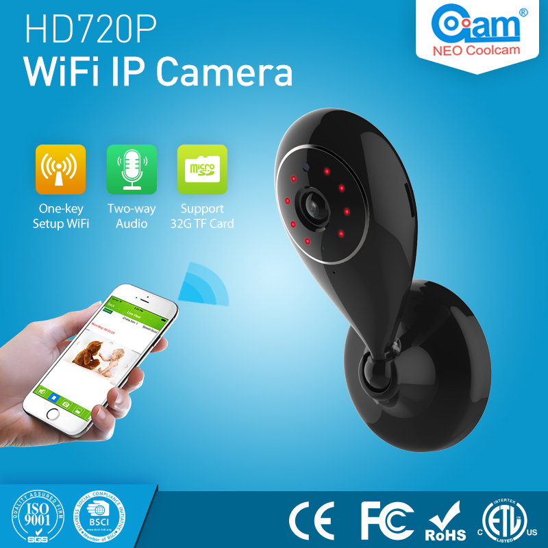 COOLCAM Mini Wifi IP Camera wi-fi 720P Wireless P2P CCTV Network Security Cameras Support SD Card Baby Monitor<br>