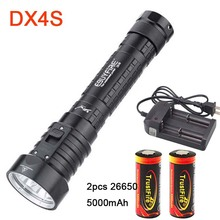 EBUYFIRE Diving Flashlight DX4S XM-L 4x L2 3200LM LED underwater Torch Brightness Waterproof 100m White Light Led lights(China)