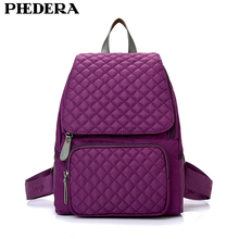 Hot Stylish Plaid Women Rucksack Korean Student School Bags High Quality Oxford Diamond Female Shoulder Bag Purple Lady Backpack