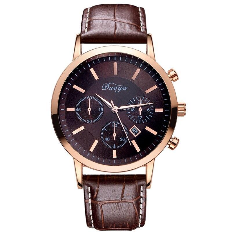 Fabulous DUOYA Quartz Watch Fashion Leather Mens Wristwatch Business Casual Watch J19<br><br>Aliexpress