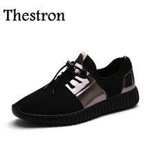 Thestron Summer Sport Shoes for Men Big Size Girls Walking Shoes Black Couples Athletic Sneakers Men and Women Shoes Sports(China)
