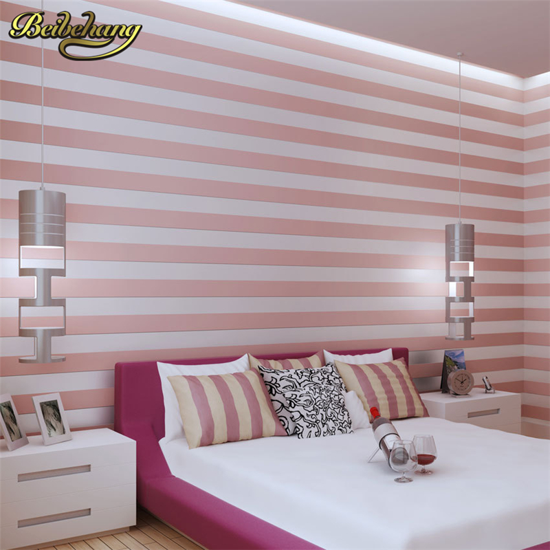 beibehang Modern striped wallpaper for walls 3 d Den bedroom living room background papel de parede 3d wall paper Wallcoverings<br>