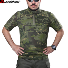 MAGCOMSEN Combat T-shirts Man Military Camouflage Tactical T-shirts Army Multicam Man tshirts Airsoft Hunt Shoot T Shirts YX-01(China)