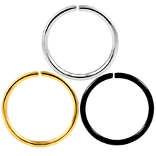 10pcs/lot 20g Stainless Steel Fashion Gold Silver Plated Fake Nose Ring Hoop Nose Stud Rings Body Piercing Jewelry For Women(China)