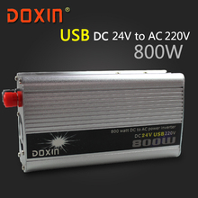 DC / AC 24V To 220V 800 W Watt Auto Off Grid inverter Car Power Inverter Inversor Universal Socket With USB DOXIN ST-N023(China)