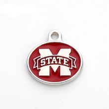 New Arrival Double Sides Enamel Mississippi State College NCAA Logo Pendant Charm For All DIY Sport Jewelry(China)