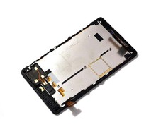 100% Test For Nokia Lumia 820 Touch Screen Digitizer Sensor Glass + LCD Display Panel Screen Module Assembly With Frame Housing