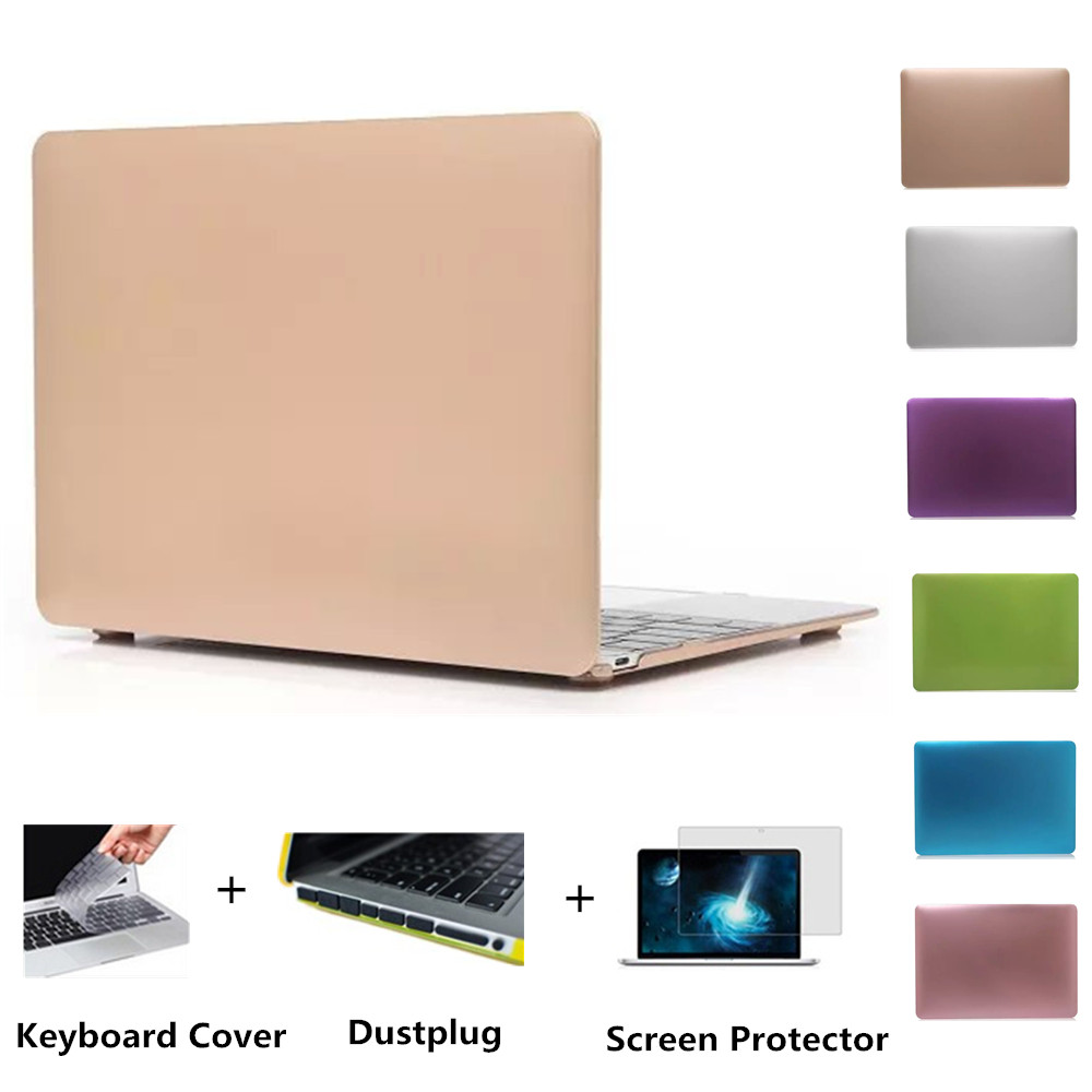 Matte Case For Apple Macbook Air 13 Case Air 11 Pro 13 Retina 12 13 15 Laptop Bag For Mac book Keyboard Cover+film+Dust plug<br><br>Aliexpress