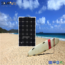 Marine flexible solar panel 100W use sunpower solar cells for outdoor, car,travel, camping 12V rechargeable battery .(China)