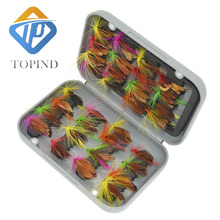 5pack Boxed fly fishing lure like Butterfly set Artificial bait trout TOPIND fly fishing lures hooks tackle with box Butterfly I(China)