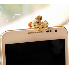 New Cute Koala Design Earphone Dust Plug Dustproof Plug Caps Cell Phone Accessories For all 3.5mm Earphone(China)