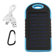 Dual USB 5000MAH Large Capacity Solar Power Bank Battery Charger Supply Flashlight Smart Phones Charging - Estrella 's Store store