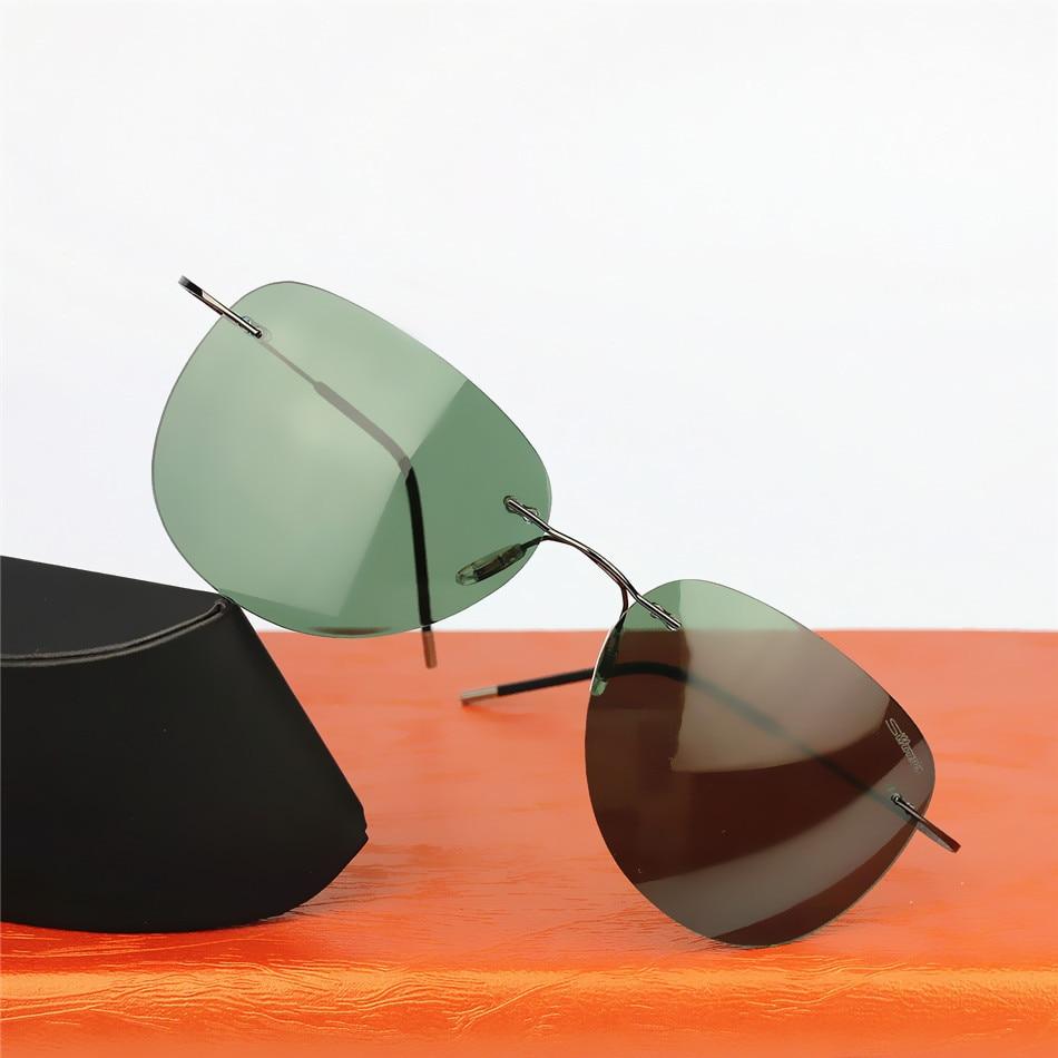 New 2017 Brand design Sunglasses Ultra Light Titanium Rimless Frame Men Women Polarized Gafas Oculos De Sol Original Box<br><br>Aliexpress