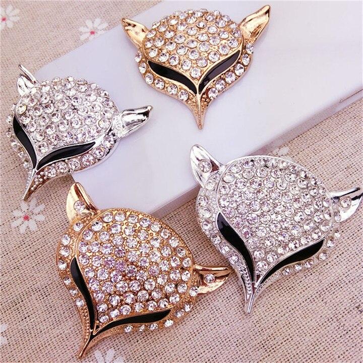 9  Fox Headed Rhinestone Jewelry Findings Alloy Handmade Craft For Bracelet Necklace Jewelry Making Decor Diy Accessories