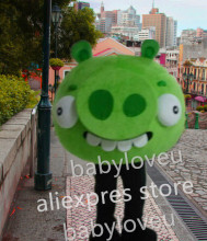 New high quality Revised Version stupid big pig green Halloween cosplay Adult Animal mascot costume free shipping