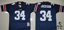 Men's high quality fast shipping Auburn Tigers #34 Bo Jackson College Football Throwback Jersey