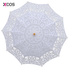Buy Fashion Sun Lace Umbrella Parasol Embroidery Bride Umbrella White Wedding Umbrella Ombrelle Dentelle Parapluie Mariage for $17.09 in AliExpress store