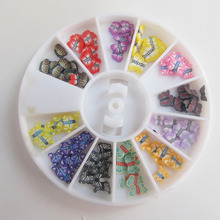 Colorful 3d Fimo Nail Art Butterfly Wheels New Arrival Cute Popuar Nail Decorations DIY W014