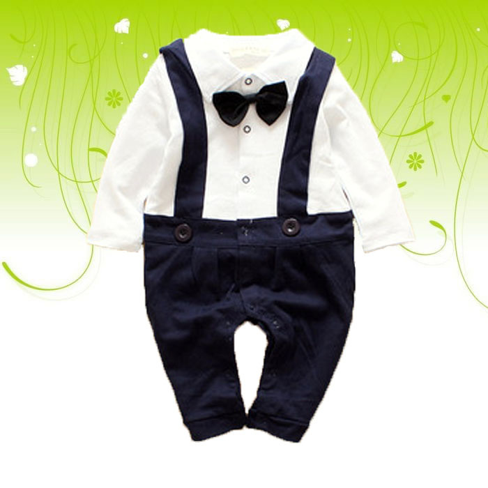 2015 New design High quality Baby boy Christening Gown white Newborn formal Baptism bebe Gentleman tie toddles Rompers<br><br>Aliexpress