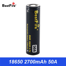 18650 Battery 3.7V Li-ion Rechargeable Battery Bestfire 2700mAh 50A Eleaf iStick Pico E Cigarette Vape Box Mod VS VTC5A B201