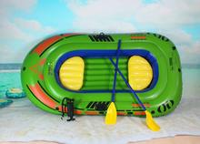 Gift Thickening Inflatable 3 Person Fishing Boat (3pcs/lot=1 Boat+ 1 Pump+ 2 Oars) Water Play Equipment Drifting Ship Canoeing