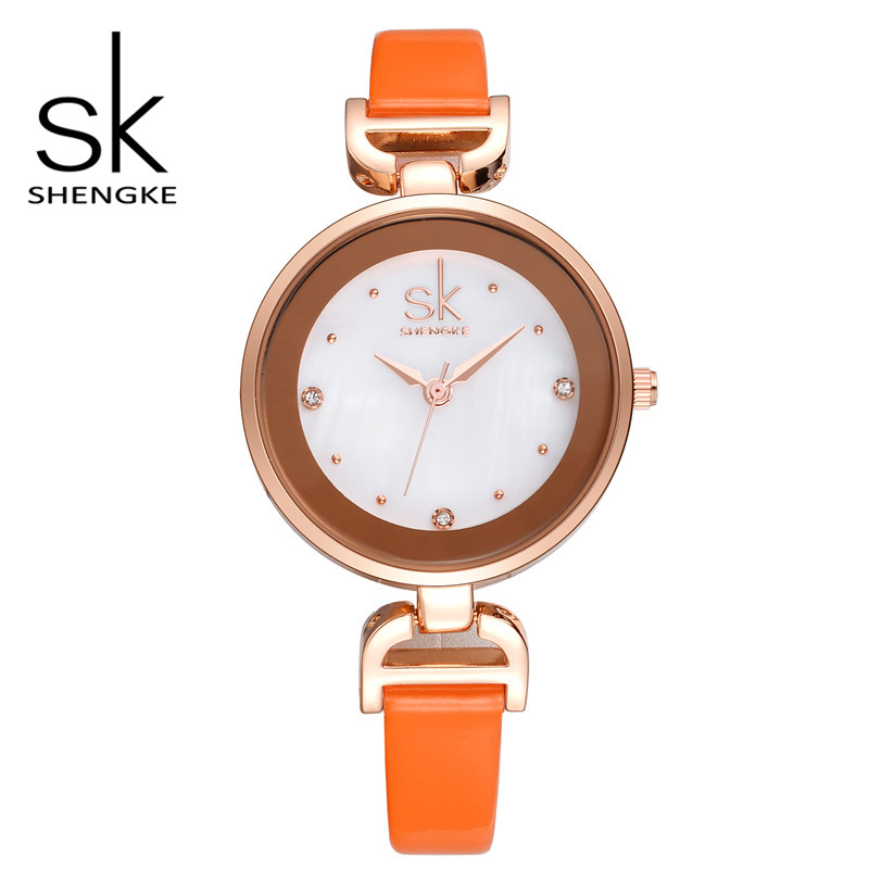 SK Brand Ladies Quartz Watches Female Slim Leather Belt Wrist Watches Fashion Women Dress Watch Relogio Feminino S0001<br><br>Aliexpress