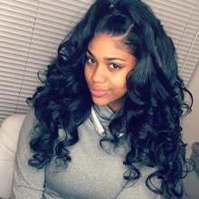 Brazilian Natural Body Wave Curly Front Lace Wig Human in Hair Full Lace Wigs with High Ponytail For Black Women