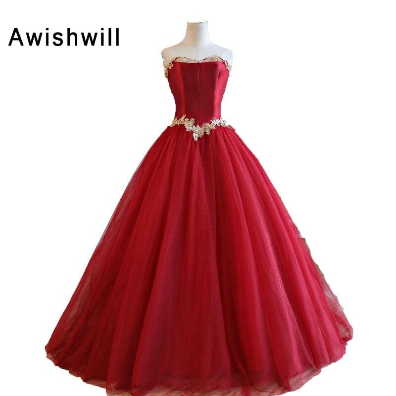Красное Пышное Платье На Выпускной Купить