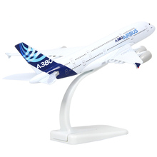 Brand New Airbus A380 Airplane 20cm Length Diecast Metal Plane Model Toy For Kids Gifts Free Shipping