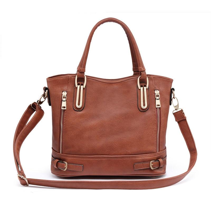 2017 New Fashion Designer Brand Women Pu Leather Handbags ladies Shoulder bags tote Bag female Retro Vintage Messenger Bag Black<br><br>Aliexpress