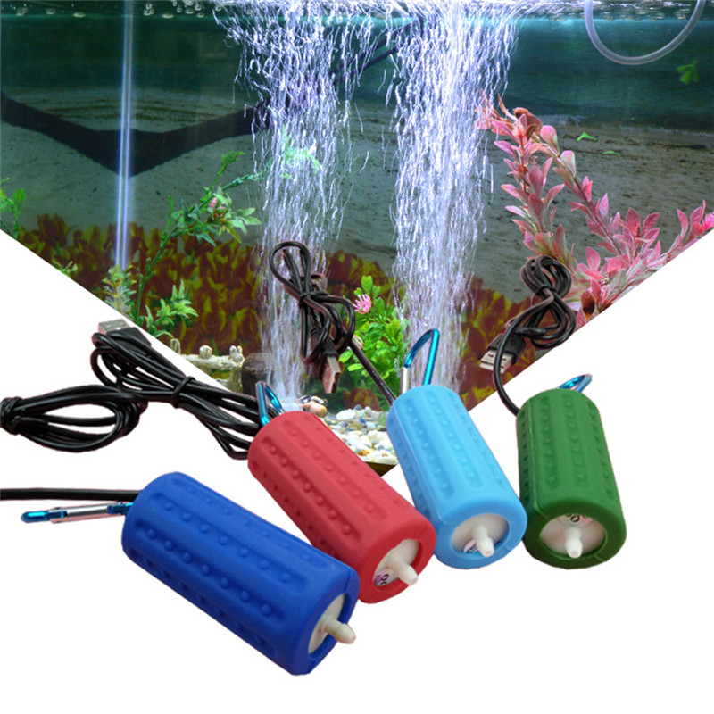 Aquarium Air Pump Portable Mini USB Oxygen Air Pump Mute Energy Saving Supplies Aquatic Terrarium Fish Tank Accessories 02