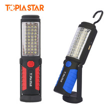 TOPIA STAR 36 5 Led Work Lamp USB Rechargeable Flashlight Magnetic Emergency Flash Light Portable Lantern Torch(China)